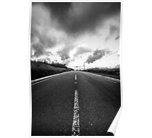 road black and white mystery Poster
