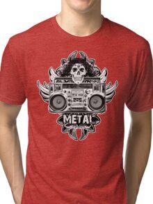 Heavy Metal Boombox Tri-blend T-Shirt
