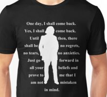 1st Doctor quote shirt Unisex T-Shirt