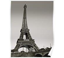 Eiffel Tower from the Seine, Paris Poster