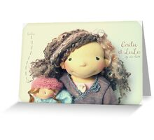 Emilie and LuLu Greeting Card