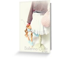 Ballerina outfit Greeting Card