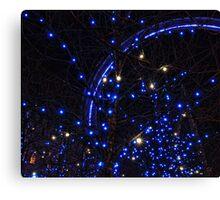 Blue lights of London Eye Canvas Print