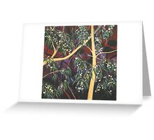 Dream White Gum Flowers At Night Greeting Card