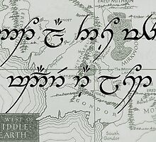 Not All Those Who Wander Are Lost- Middle Earth Map by CarolineDFTBA