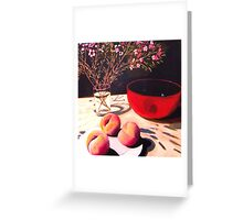 Peaches and Geraldton Wax Greeting Card