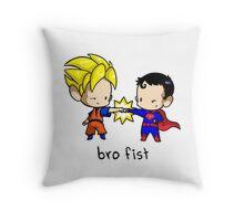 Goku Bro Fists Superman Throw Pillow