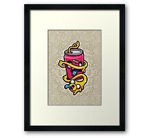 Can of Jake Cartoon Character Framed Print