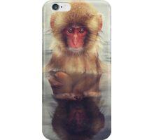 Reflecting Snow Monkey iPhone Case/Skin