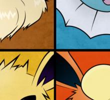 Pokemon Eeveelutions - Jolteon Flareon Vaporeon Eevee Sticker