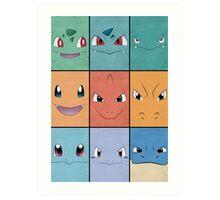Kanto Starters - Pokemon Poster - Charizard Blastoise Venusaur Art Print