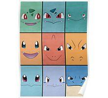 Kanto Starters - Pokemon Poster - Charizard Blastoise Venusaur Poster