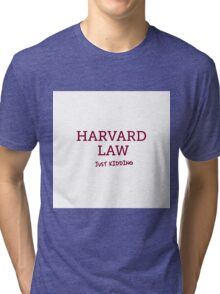 Harvard Law Tri-blend T-Shirt
