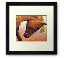Just Plain Horse Sense Framed Print