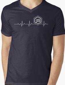 Node.js Heartbeat T-shirt & Hoodie Mens V-Neck T-Shirt