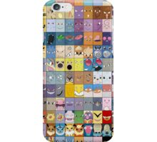 Original Kanto 151 First Generation Poster iPhone Case/Skin