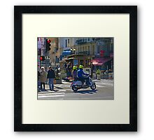 Scoot on Powell Street Framed Print