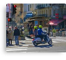 Scoot on Powell Street Canvas Print