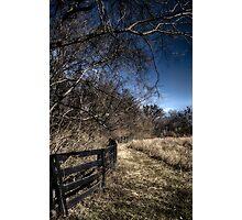 Winding Fenceline Photographic Print