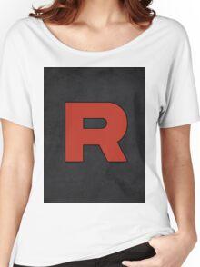 Team Rocket Logo Design Poster Pokemon Original Women's Relaxed Fit T-Shirt