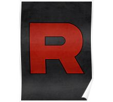 Team Rocket Logo Design Poster Pokemon Original Poster