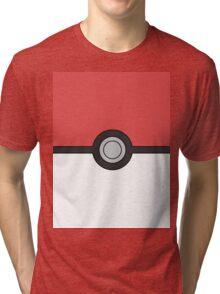 Pokemon Pokeball Minimal Design Poster Tri-blend T-Shirt