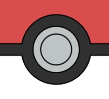 Pokemon Pokeball Minimal Design Poster Sticker