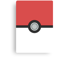Pokemon Pokeball Minimal Design Poster Canvas Print