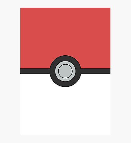 Pokemon Pokeball Minimal Design Poster Photographic Print