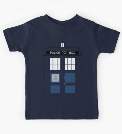 TARDIS Big Kids Tee