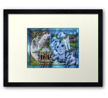Fons, god/goddess of wells, springs and pure water (month of October) Framed Print
