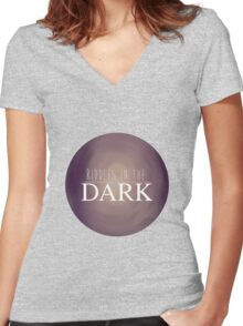RIDDLES IN THE DARK Women's Fitted V-Neck T-Shirt