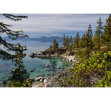 Lake Tahoe - Looking North from east Shore Photographic Print