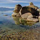 Lake Tahoe - with clear water and pebbles by David Galson
