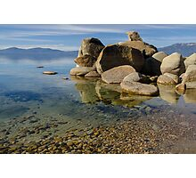 Lake Tahoe - with clear water and pebbles Photographic Print