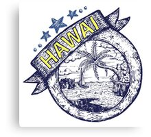 Hawai theme Hand draw illustration Canvas Print