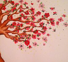 Blown Away Blossoms  by Sarah O'Neal