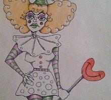 Unhappy Clown  by Sarah Allen