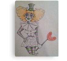 Unhappy Clown  Metal Print
