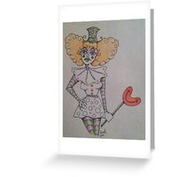 Unhappy Clown  Greeting Card