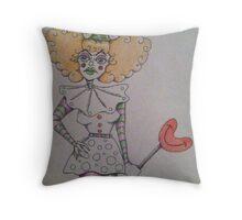 Unhappy Clown  Throw Pillow