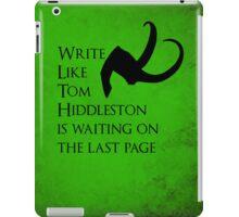 Tom Hiddleston Waits on the Last Page iPad Case/Skin