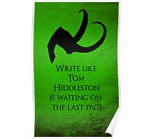 Tom Hiddleston Waits on the Last Page Poster