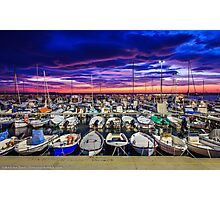 Stunning sunset in Livorno Photographic Print