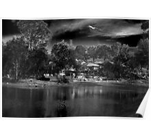 House by the Lake - BW Poster