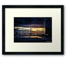 Sunset over Docklands Framed Print