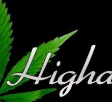 High as fuck Sticker
