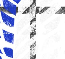 Attack On Titan - Survey Corps Logo (Blue Grunge) Sticker