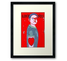 LOVE YOU 11 Framed Print