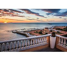Sunset in Livorno - Terrazza Mascagni Photographic Print